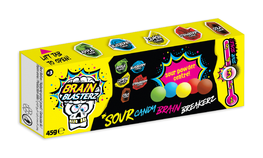 Brain Breakerz Sour Candy Brain Blasterz Sweets 45g